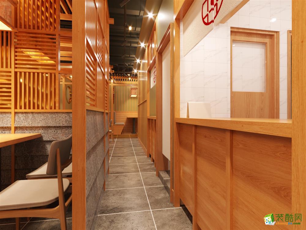 太原100平米日料餐厅装修效果图片