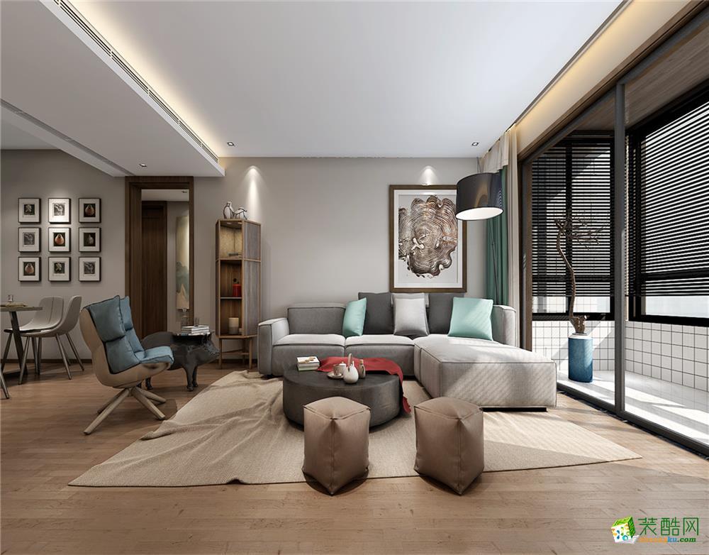 金地国际现代140平米四室两厅