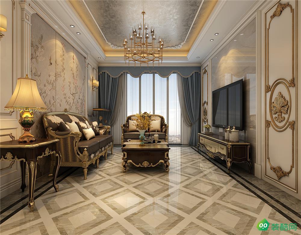 雍锦半岛欧式140平米三室两厅效果图