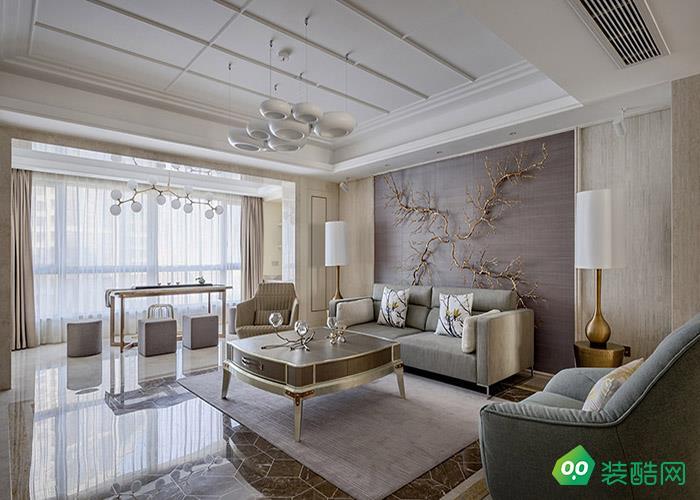 沈陽中糧花熙祥云-130平米中式風格三室一廳一衛裝修效果圖