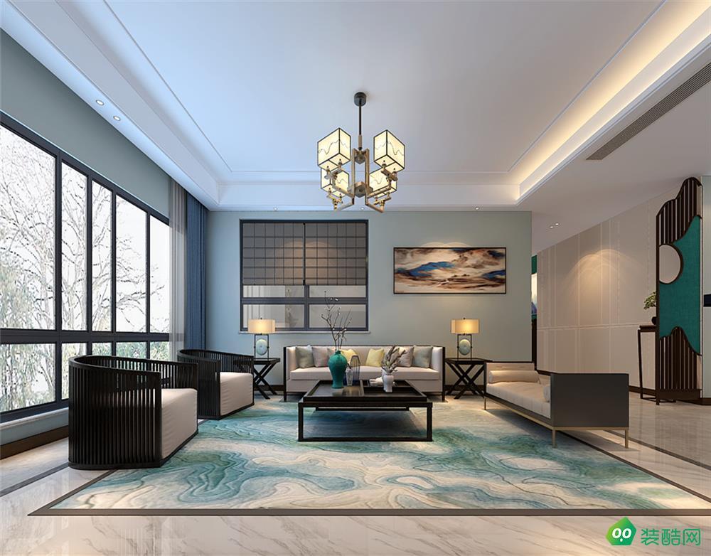 正恒大华府、四室两厅、新中式、200平米效果图