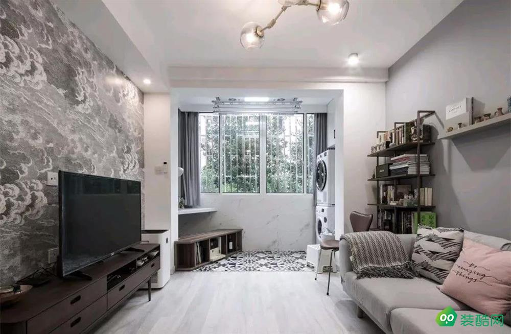 上海48平米一居室現代簡約風格裝修效果圖