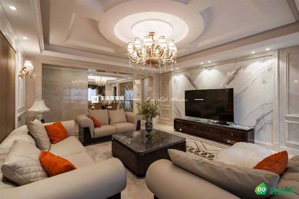 193㎡古典欧式,这间房将对称美做到了极致