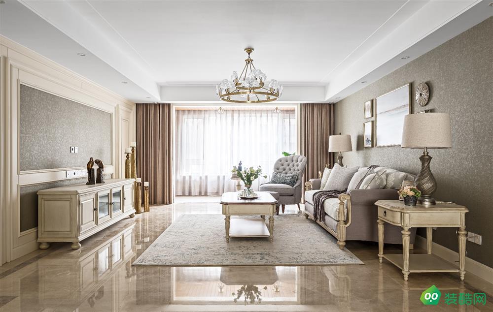 成都134平米美式风格四居室装修效果图