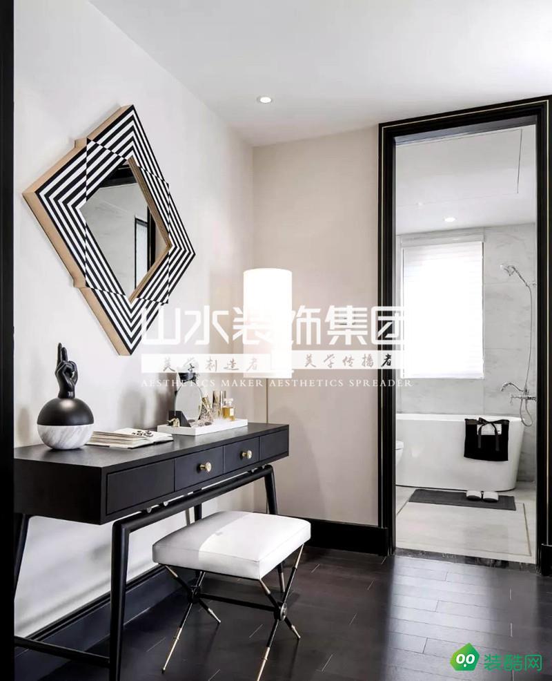 合肥114㎡高級黑輕奢三居室裝修設計案例