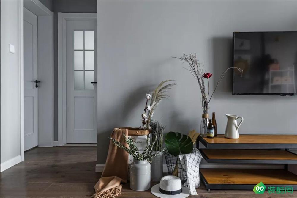 太原雅苑88㎡北欧风格两室两厅装修效果图