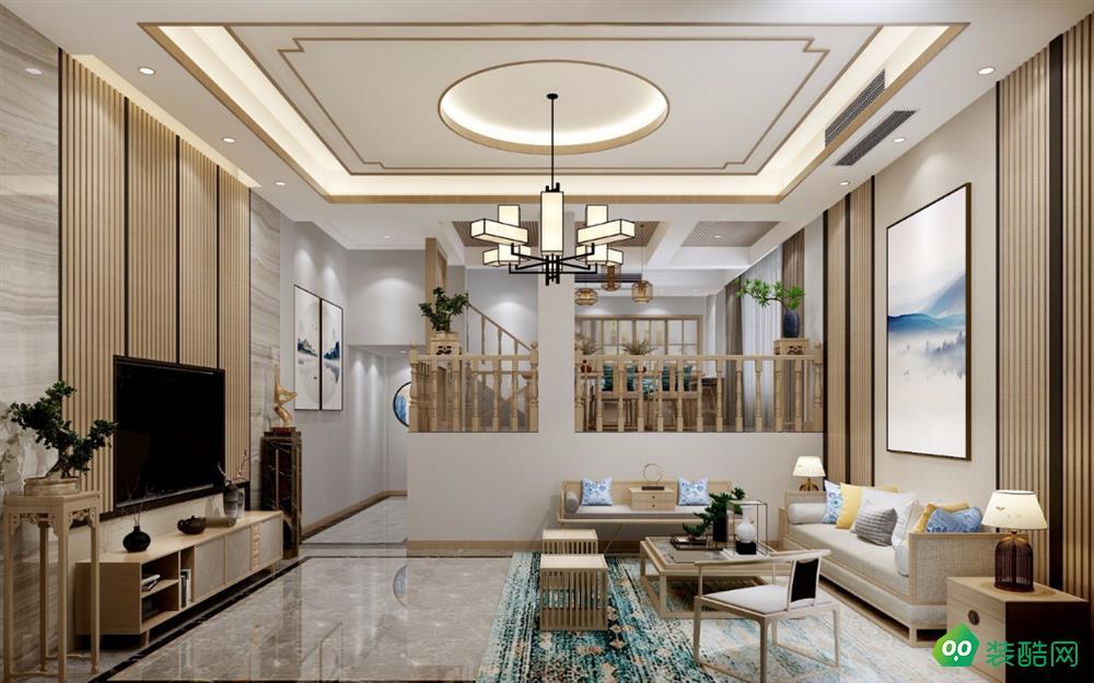 上海119平米现代风格三室两厅装修效果图