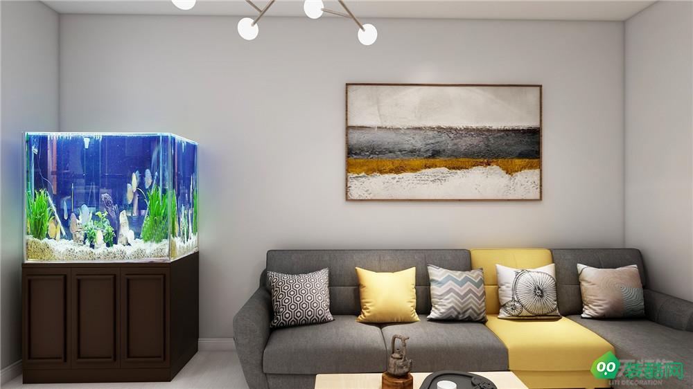 力天装饰 水竹家园 83平 北欧风格