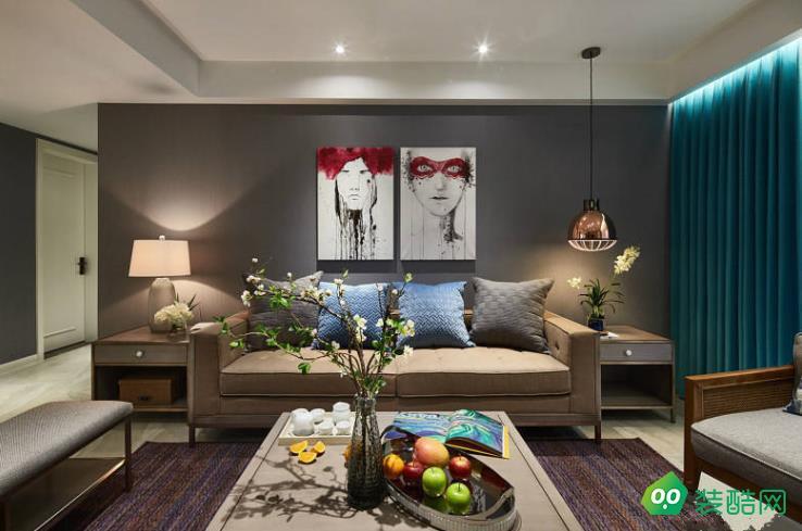 樂山99平米三室混搭風格裝修效果圖-逸境裝飾