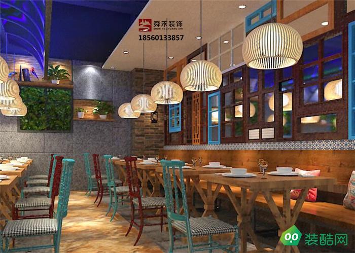 山東淄博鐵鍋燉雞肥牛驢肉全羊館餐飲飯店設計裝修公司
