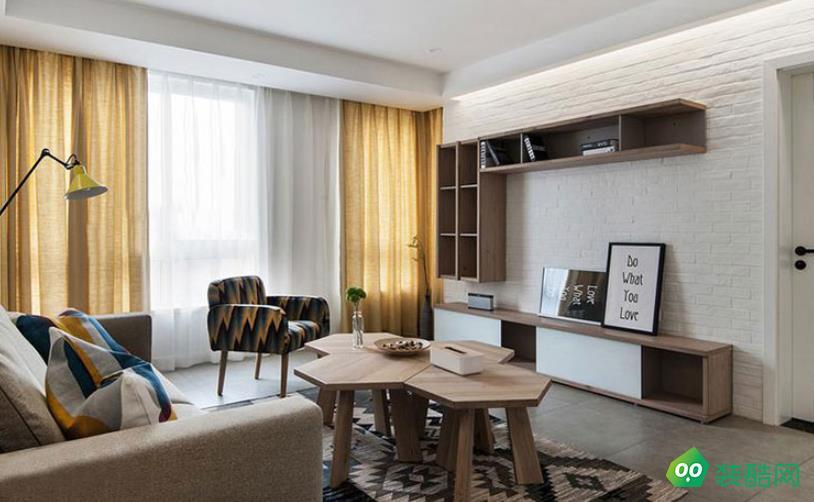 六安110平三室现代简约风格装修效果图-星艺装饰