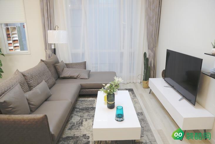六安76平两室现代简约风格装修效果图-星艺装饰