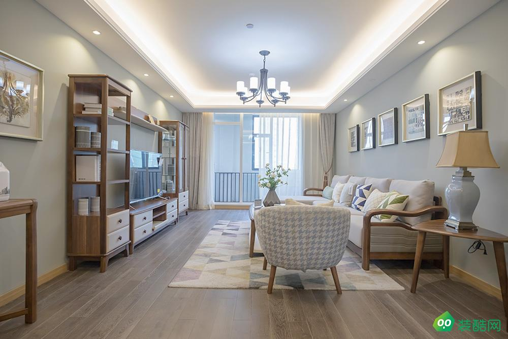 上海95平米北欧风格三居室装修效果图