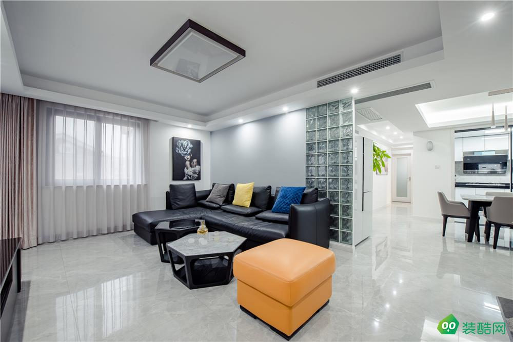 上海126平米简约风格三室两厅装修效果图