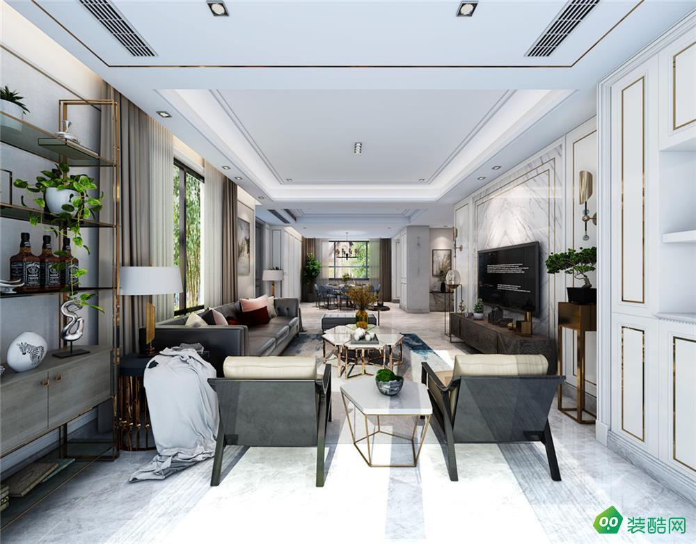 保利.西山林语、现代、385平米、别墅装修效果图