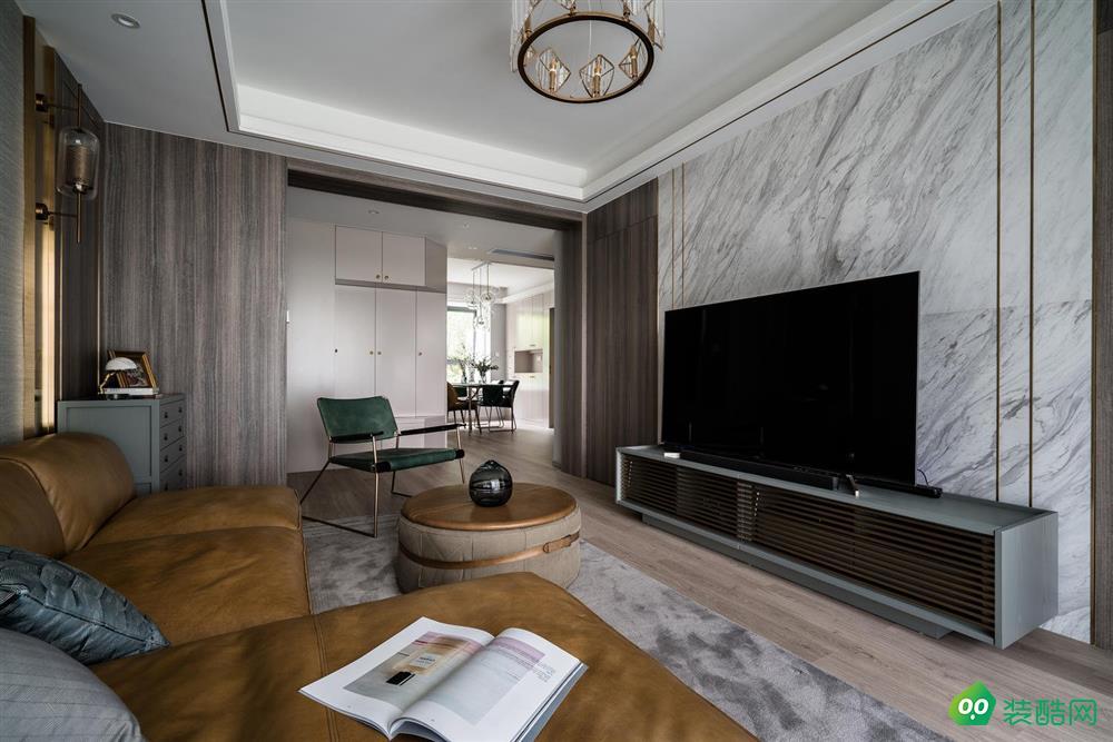 现代轻奢108平二居室装修效果图