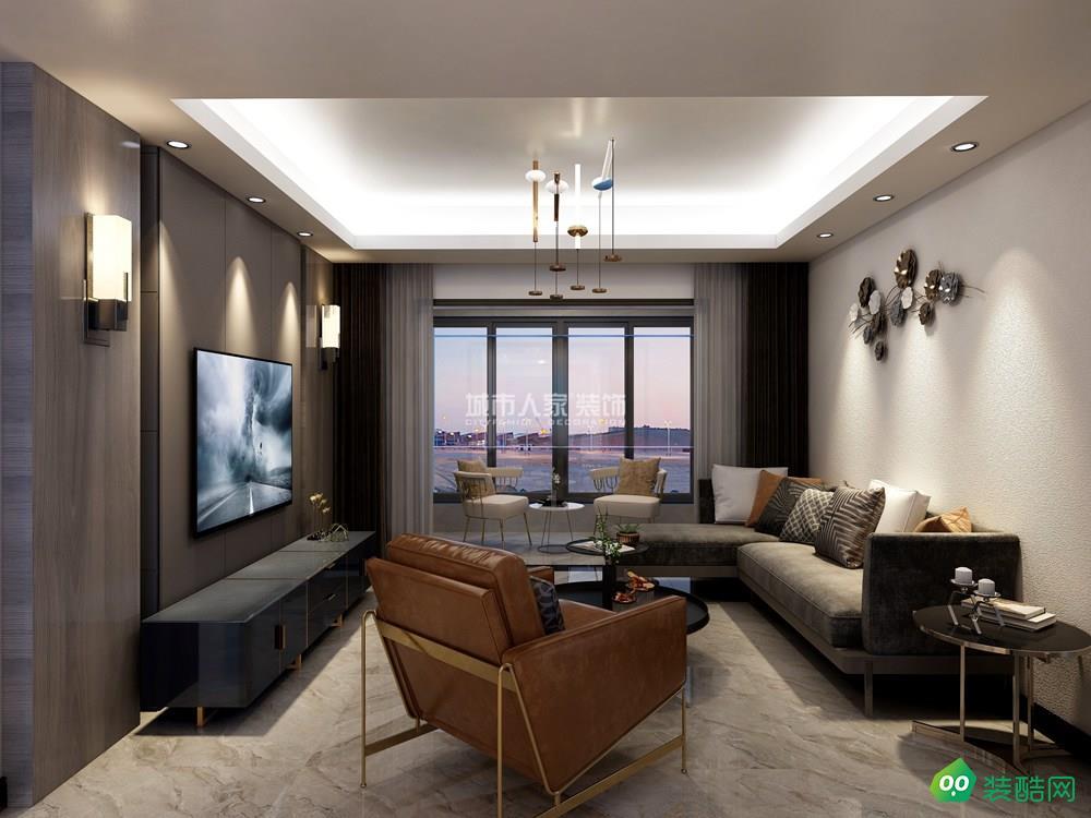 中铁新城125平米现代风格装修案例