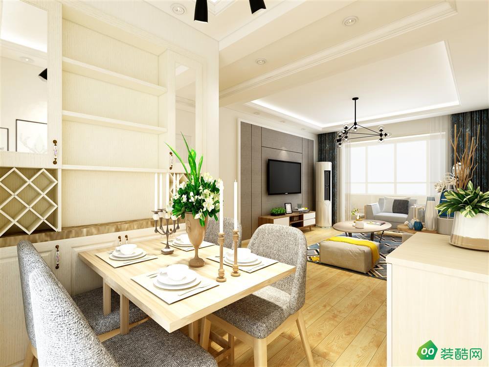 75平米二居室现代简约风格装修案例图
