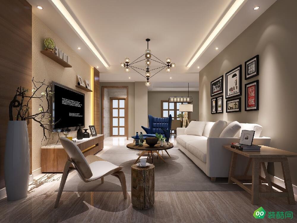成都120平米北歐風格三室兩廳裝修案例圖片