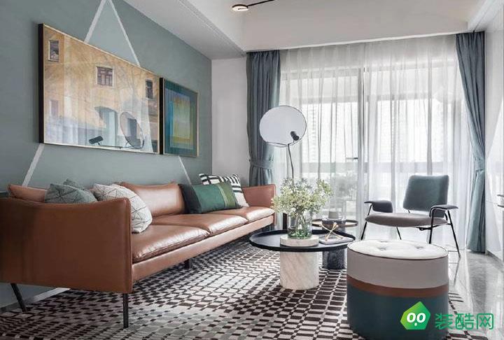 武漢鼎觀世界-91平米北歐風格三室一廳一衛裝修效果圖片