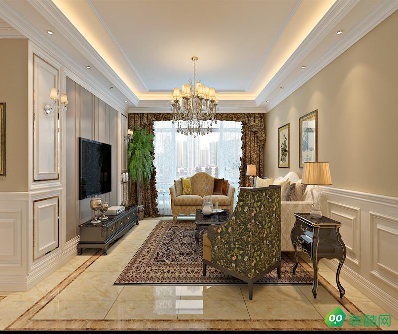 大連140平米歐式風格四居室裝修案例效果圖