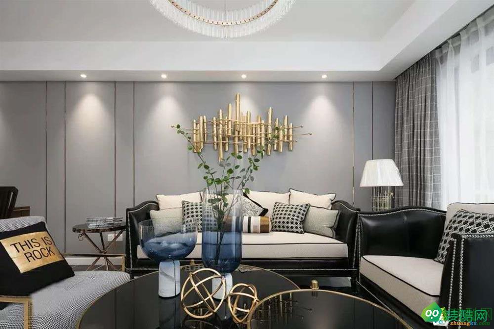 武漢藍光林肯花園-136平米中式風格三室兩廳兩衛裝修效果圖片
