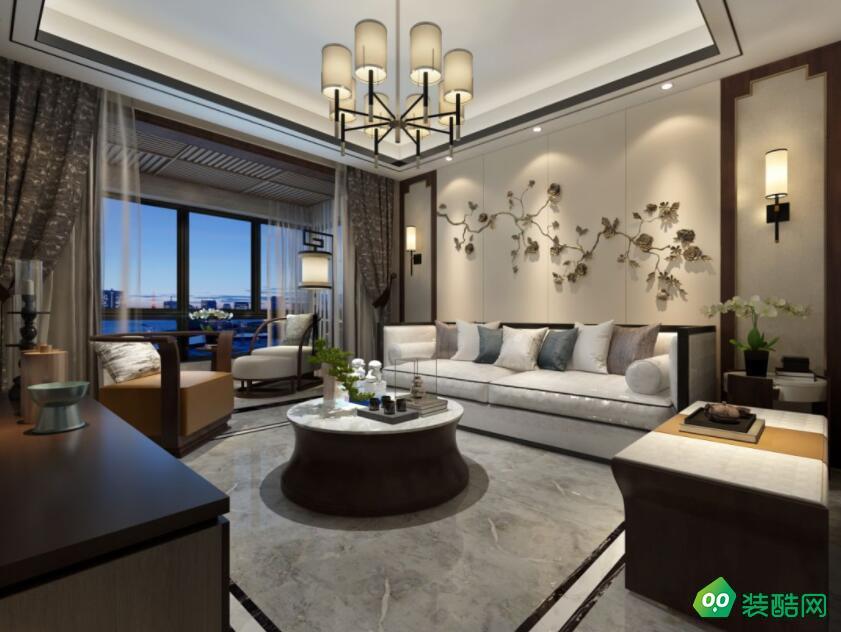 武漢180平米中式風格兩室兩廳裝修效果圖片