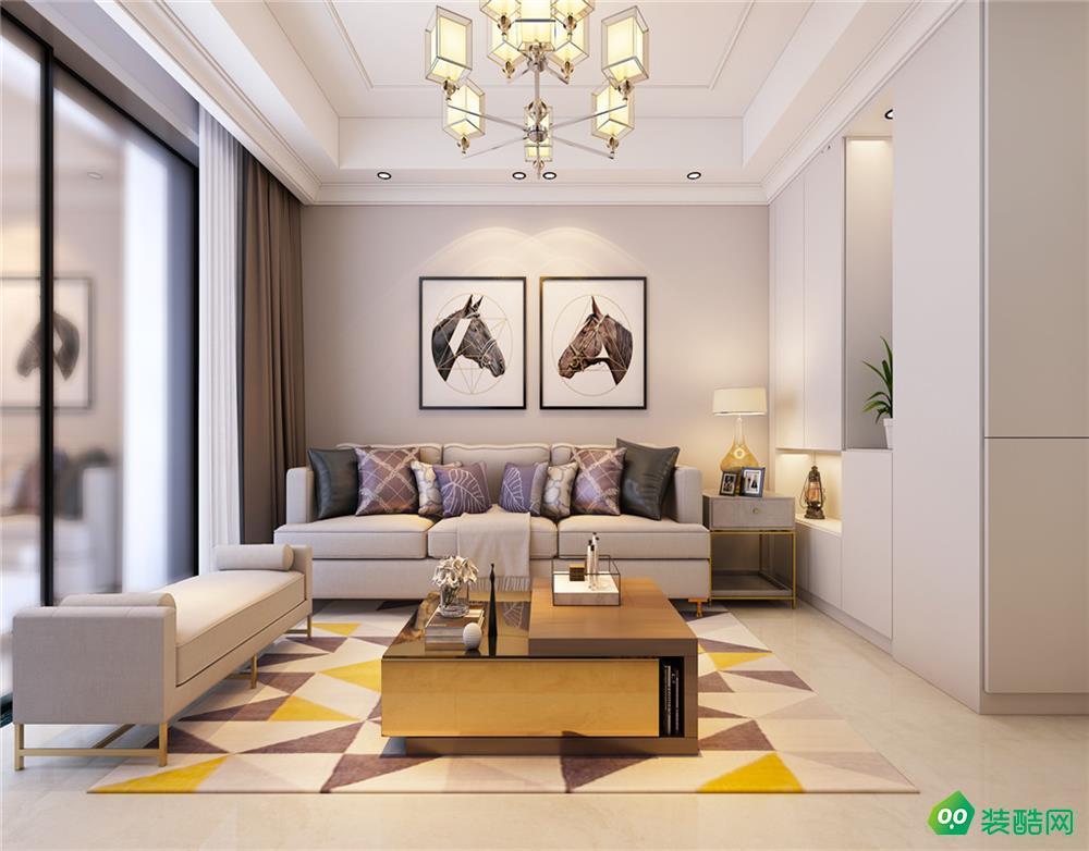 武漢110平米簡約風格三室兩廳一衛裝修效果圖片