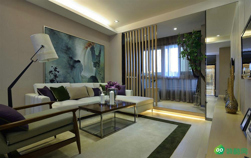 武漢金地自在城-87平米簡約風格兩室兩廳兩衛裝修效果圖片