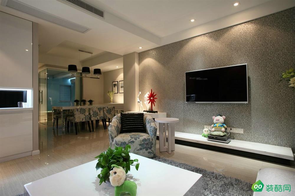 武漢中央生活區-108平米三室一廳一衛裝修效果圖片