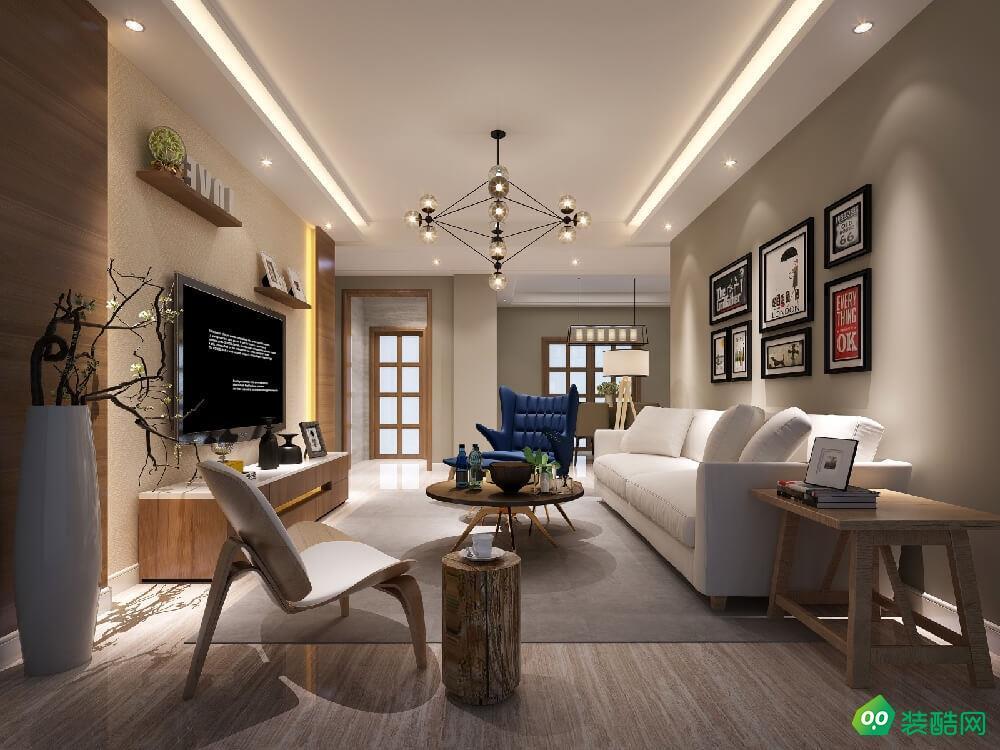 武漢金地格林小城-76平米兩室一廳一衛裝修效果圖片