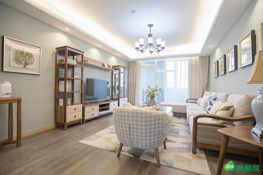 武漢香水灣-94平米歐式風格兩室兩廳兩衛裝修效果圖片