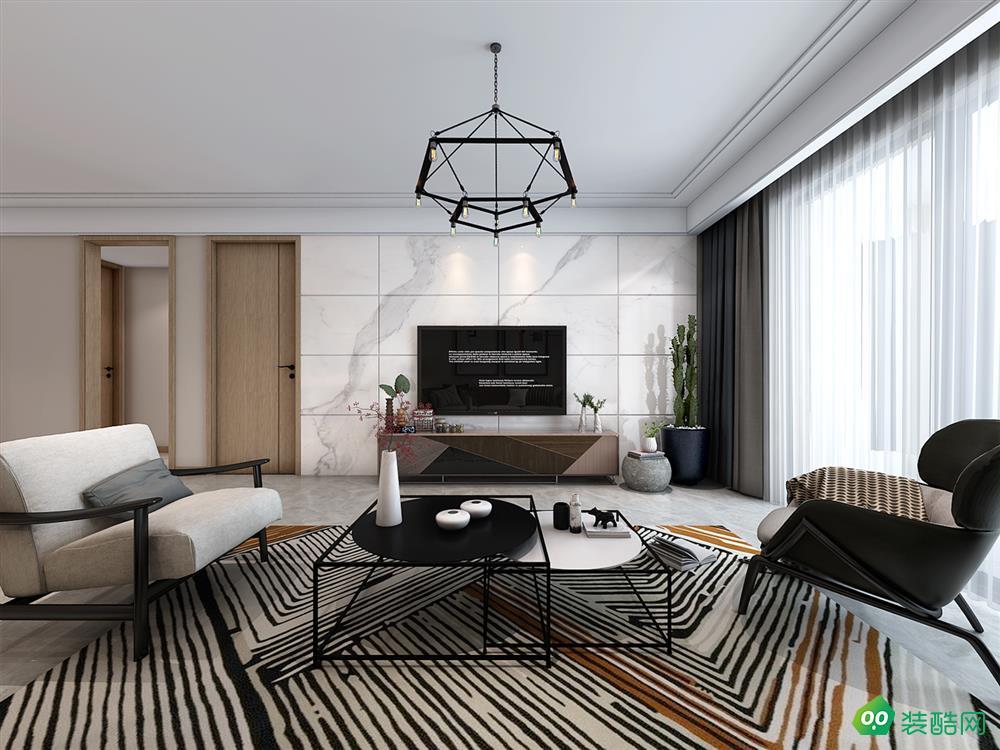 巴黎都市、北歐、120平米、三室兩廳裝修效果圖