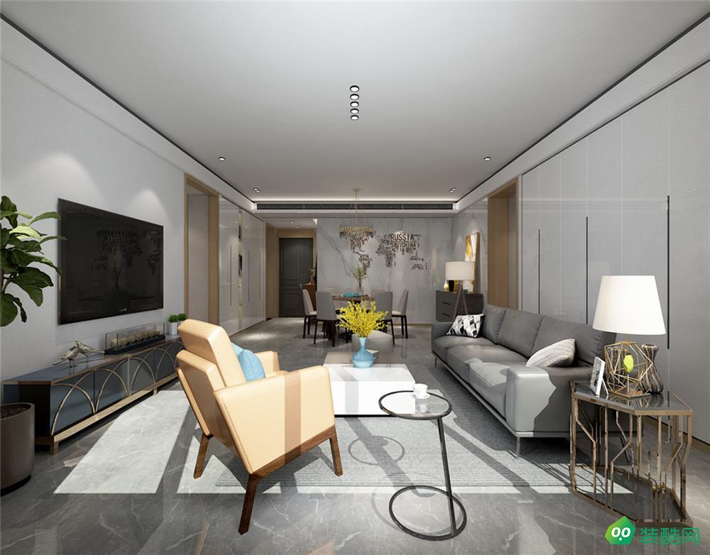 栢悦公馆、现代、180平米、四室两厅装修效果图