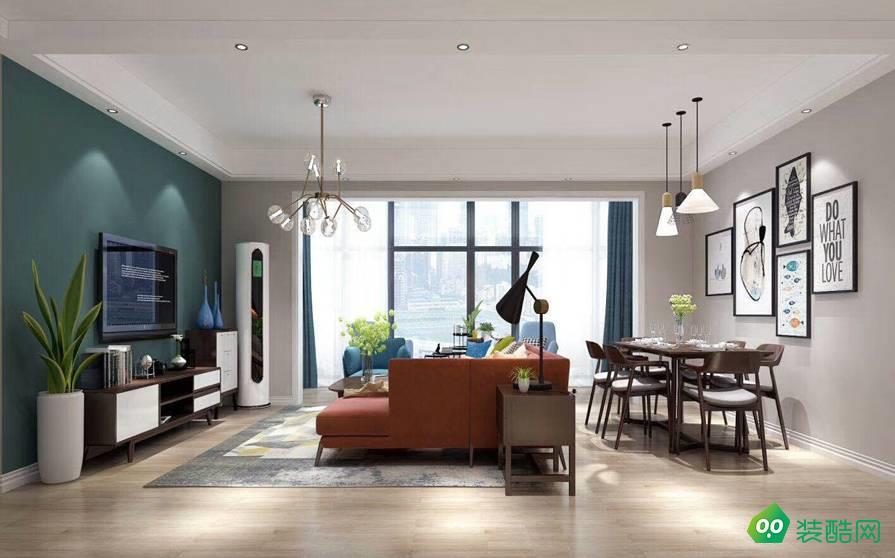 成都100平米混搭風格三室兩廳裝修案例效果圖片