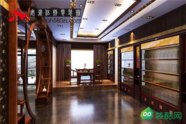 合肥茶葉店裝飾 200㎡ 中式韻味