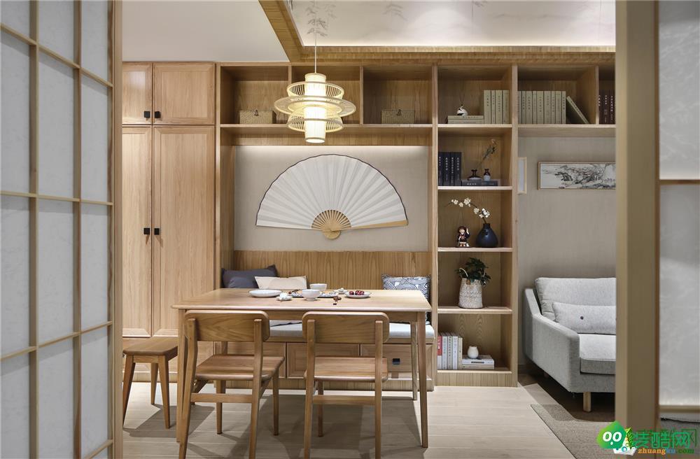 武漢華潤翡翠城-131平米日式風格三室一廳裝修效果圖片