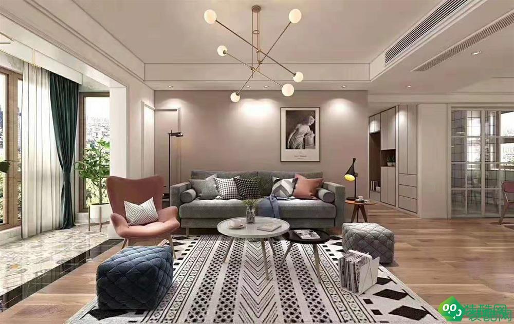武漢菱角湖壹號-98平米法式風格三室一廳一衛裝修效果圖片