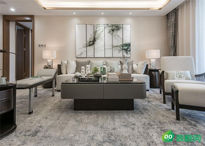 武漢金地自在城-135平米中式風格三室兩廳一衛裝修效果圖片
