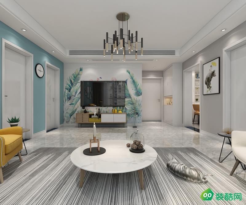 武漢金地瀾菲溪岸-108平米三室兩廳一衛裝修效果圖片