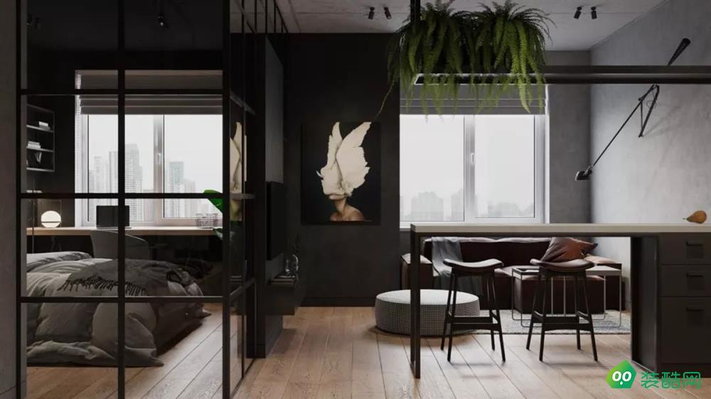 42㎡小公寓,卧室隔墙打掉后,满满的高级感