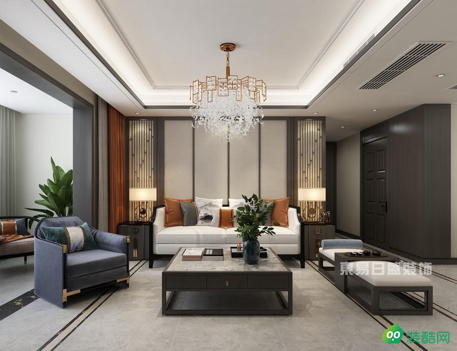 北京东易日盛装饰-140平新中式装修案例效果图