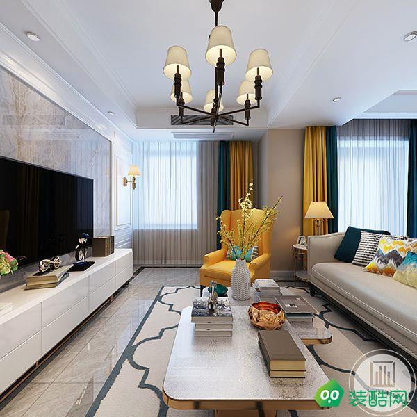 【大業美家】南京恒大綠洲150平美式裝修效果圖