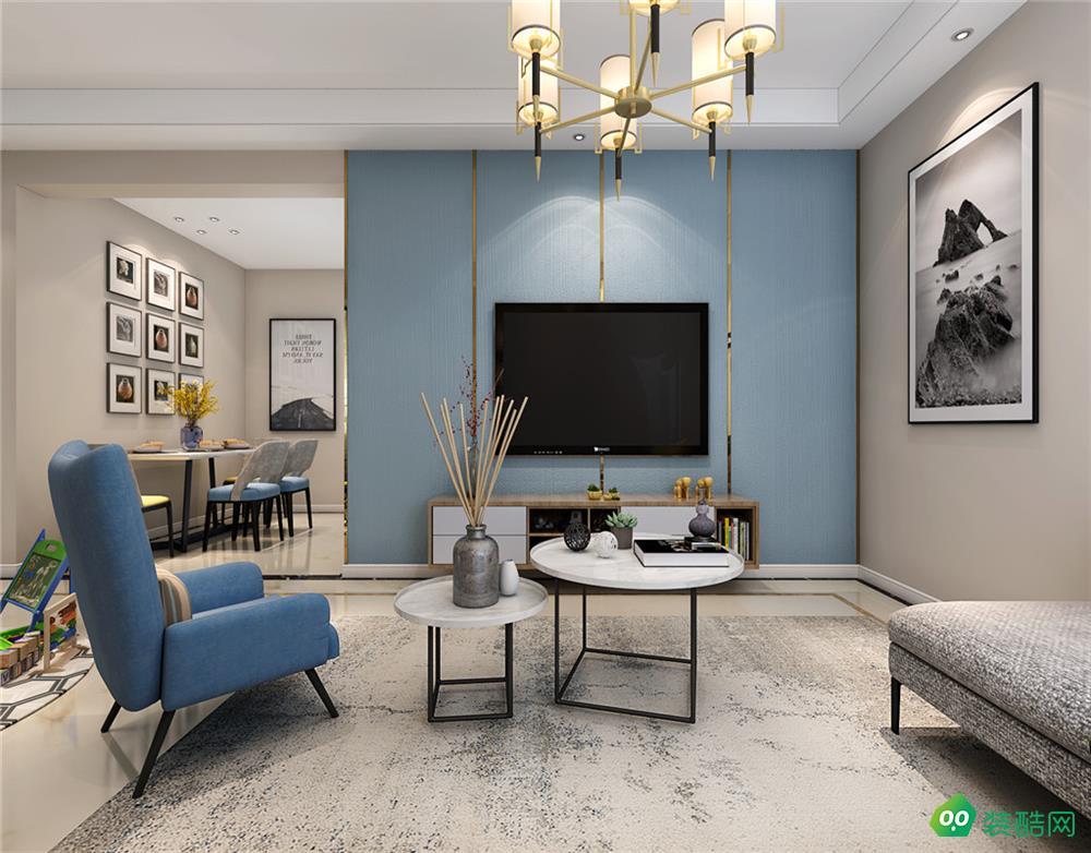 国贸公寓 、现代、104平米、三室两厅装修设计效果图