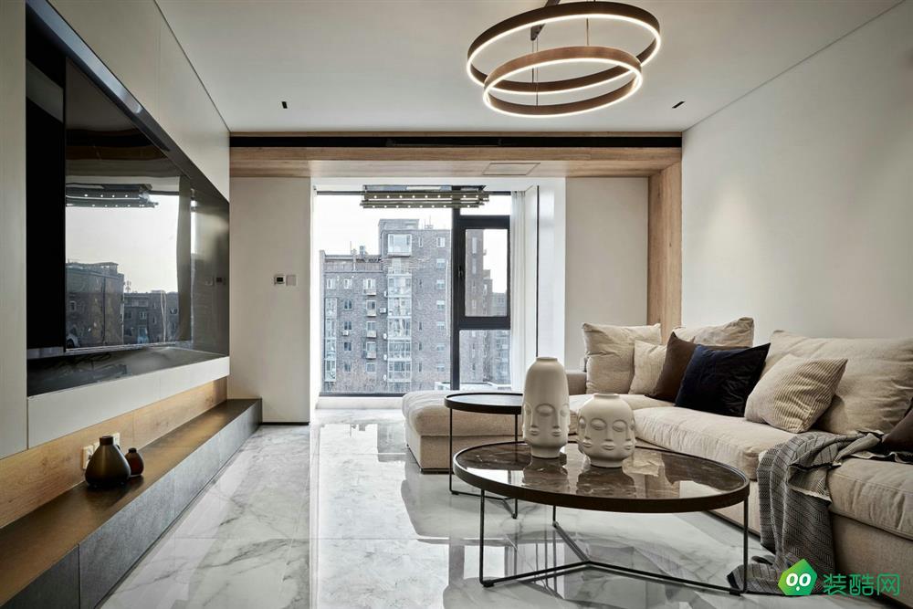 成都111平米现代简约风格三室两厅装修案例效果图