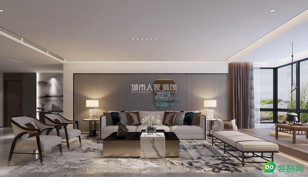 龙湖花千树230平米新中式风格装修案例