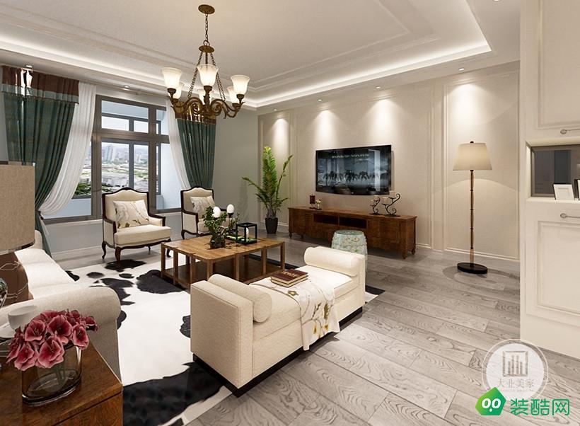 南京騁望云邸190平簡約美式風格裝修效果圖