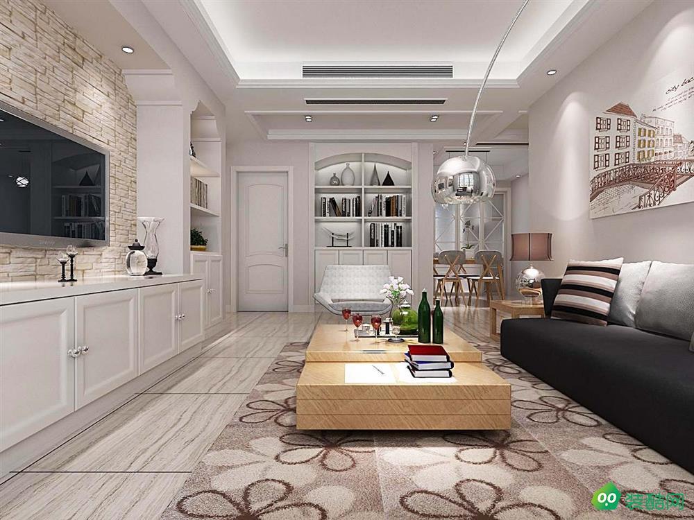 鹽城108平米混搭風格三居室裝修案例效果圖片