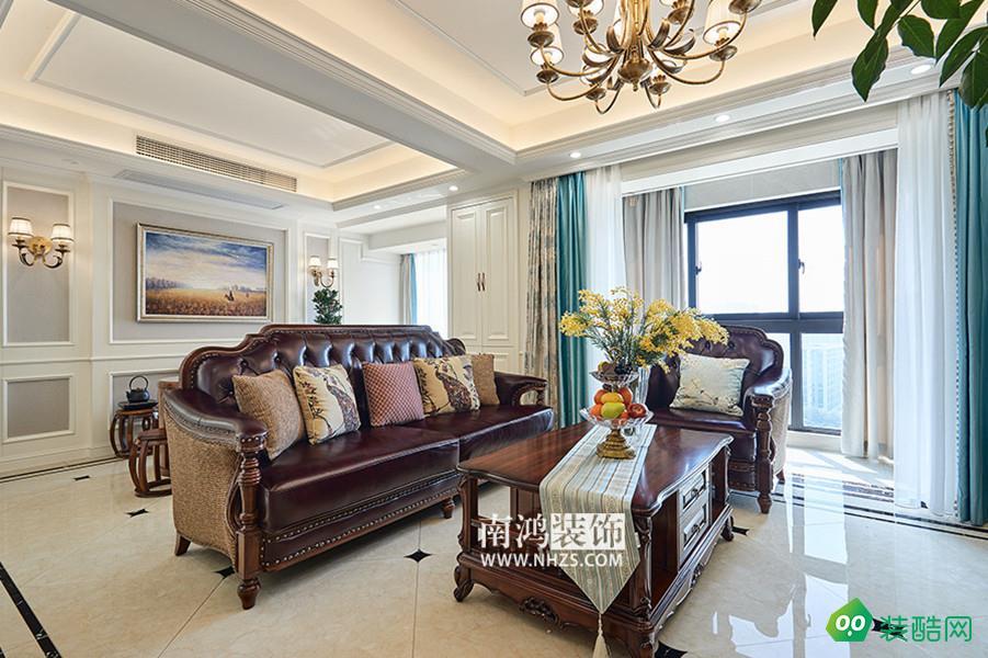 |南鴻裝飾|金茂悅 三居室 180方美式風格