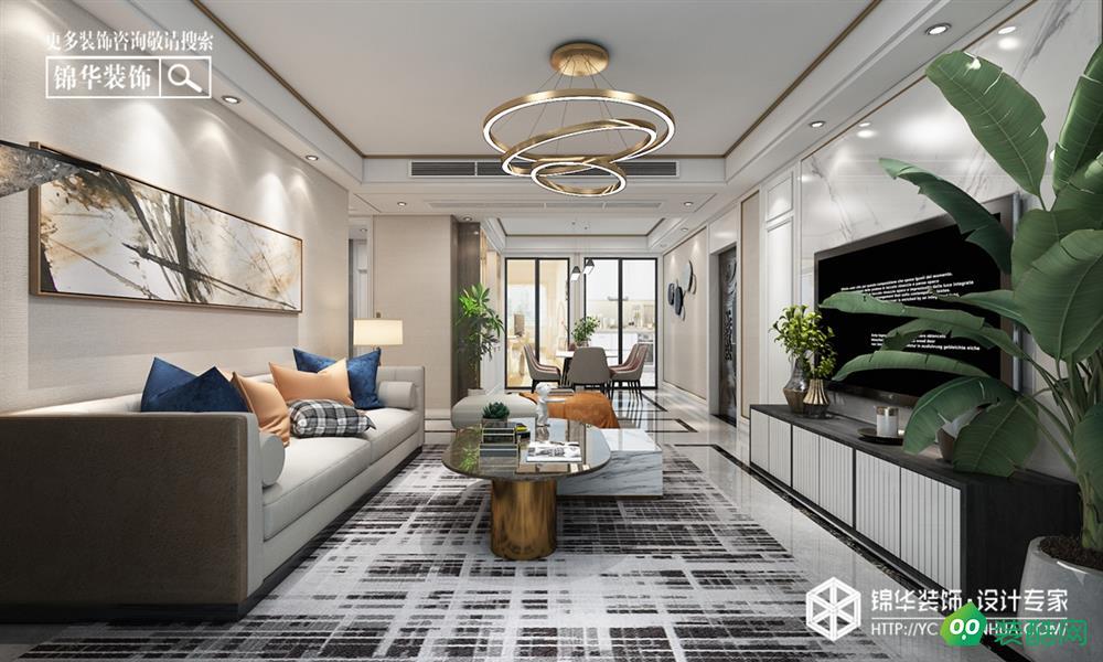 盐城120平米现代风格三室两厅装修案例效果图片